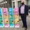 Oferta de dispensadores de álcool gel para as escolas do concelho de Lamego